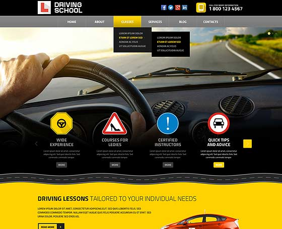 Website de instructor auto